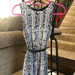 Jessica Simpson snakeskin pattern dress